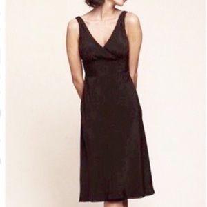 J. Crew   Sophia Silk Black Dress